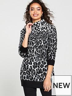wallis-leopard-brushed-jumper