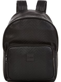versace-jeans-couture-mens-all-over-logo-faux-leather-backpack-black