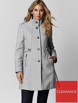 wallis-petite-funnel-coat-grey