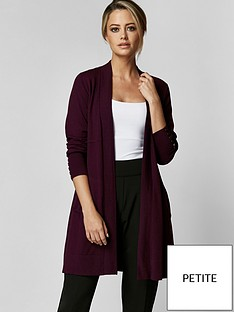 wallis-petite-wool-mix-longline-cardi