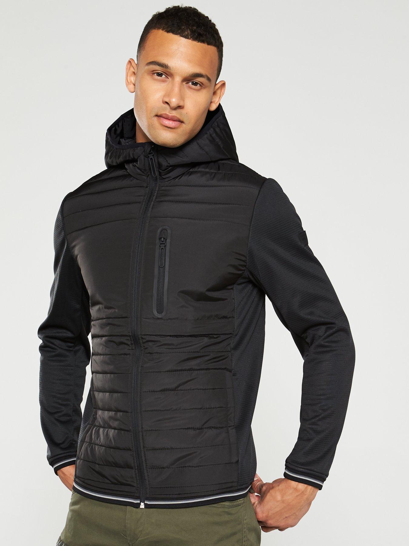 Jack /& Jones Core Jacket Mens Lightweight Windproof Water Repellent Coat Jconile