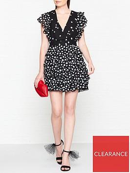 talulah-love-shak-polka-dot-mini-dress-blackwhite