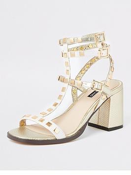 river-island-river-island-studded-gladiator-block-heel-sandals-gold