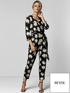 wallis-wallis-petite-spaced-floral-wrap-jumpsuit