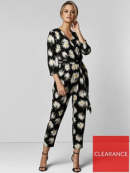wallis-wallis-petite-spaced-floral-wrap-jumpsuit