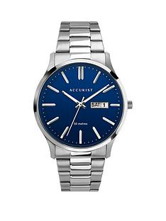 accurist-blue-daydate-dial-stainless-steel-bracelet-mens-watch