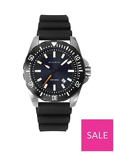 accurist-accurist-sunray-and-silver-detail-date-dial-black-silicone-strap-mens-watch