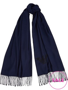 emporio-armani-knitted-logo-scarf-navy