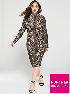 ax-paris-curve-bodycon-midi-dress--nbspsnake-print