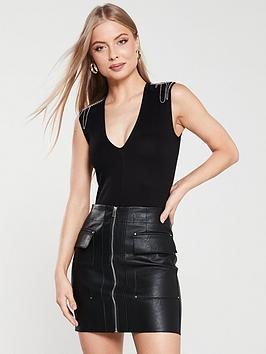 river-island-river-island-embellished-shoulder-bodysuit-black