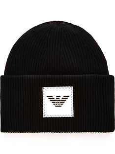 emporio-armani-emporio-armani-rubberised-eagle-logo-knitted-beanie