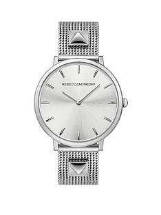 rebecca-minkoff-rebecca-minkoff-black-glitter-dial-grey-leather-strap-ladies-watch