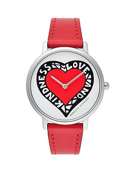 rebecca-minkoff-rebecca-minkoff-love-and-kindness-dial-red-leather-strap-ladies-watch