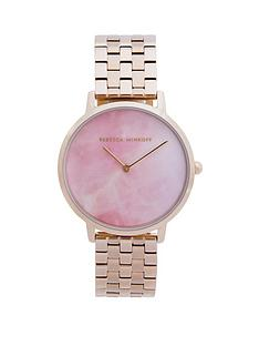 rebecca-minkoff-rebecca-minkoff-blush-mother-of-pearl-dial-rose-gold-stainless-steel-bracelet-ladies-watch
