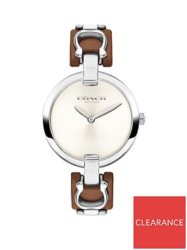 coach-coach-silver-dial-brown-leather-and-stainless-steel-detail-strap-ladies-watch