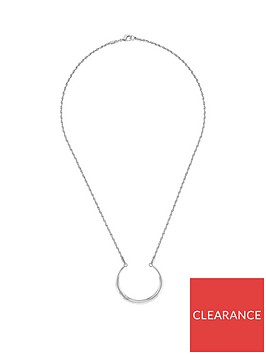 tommy-hilfiger-zendaya-silver-plated-double-hoop-ladies-necklace