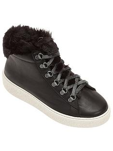 victoria-faux-fur-wedge-ankle-boots-black
