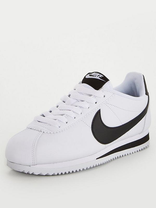 wylot różne kolory klasyczny Classic Cortez Leather - White/Black