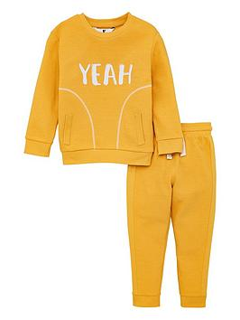 v-by-very-boys-yeah-textured-sweat-top-amp-jogger-set-mustard