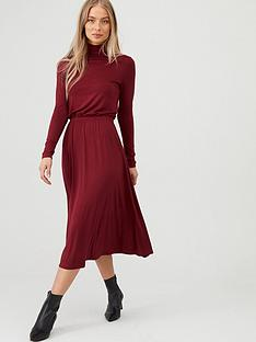 v-by-very-roll-neck-midi-dress-burgundy