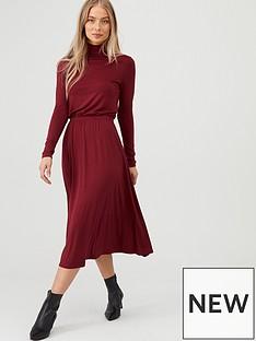 v-by-very-roll-neck-midi-dress-burgundy