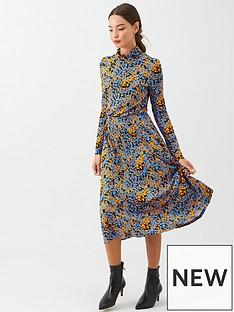 v-by-very-roll-neck-midi-dress-orange-floral