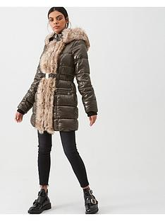 river-island-river-island-faux-fur-front-high-shine-padded-jacket-khaki