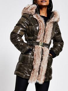 ri-petite-ri-petite-faux-fur-front-high-shine-padded-jacket-khaki
