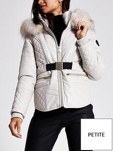 ri-petite-pu-padded-jacket-stone