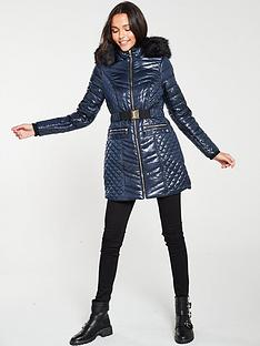river-island-river-island-belted-longline-padded-coat-navy