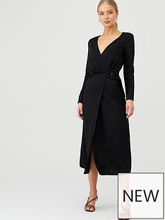 v-by-very-belted-wrap-midi-dress-black
