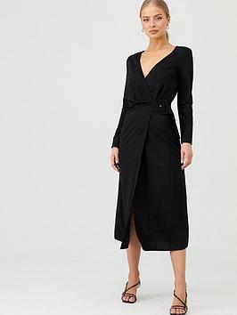 v-by-very-belted-wrap-midi-dress-black