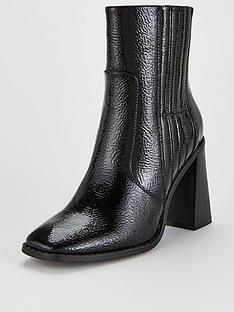 v-by-very-donna-flare-block-heel-ankle-boots-black