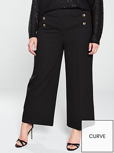 v-by-very-curve-button-front-culottes-black