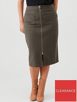 v-by-very-curve-zip-through-pencil-skirt-khaki