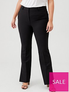 v-by-very-curve-kick-flare-split-hem-trousers-black