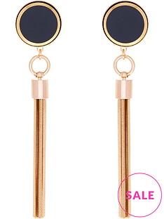 anton-heunis-omega-clasp-tassel-earrings-blackgold