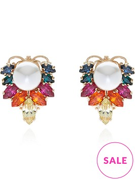 anton-heunis-omega-clasp-crystal-cluster-and-pearl-stud-earrings-gold