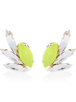 anton-heunis-omega-clasp-crystal-and-neon-stud-earrings-neon-yellow