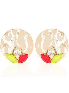 anton-heunis-omega-clasp-neon-stud-earrings-gold