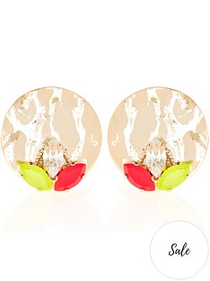 anton-heunis-omega-clasp-neon-stud-earrings-gold