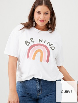 v-by-very-curve-be-kind-retro-t-shirt-white