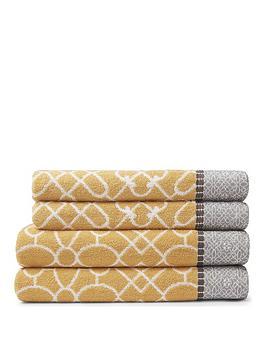 bianca-cottonsoft-cassia-border-4-piece-100-cotton-towel-bale