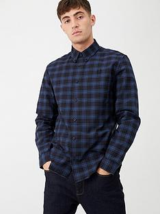 fred-perry-tartan-shirt-navy