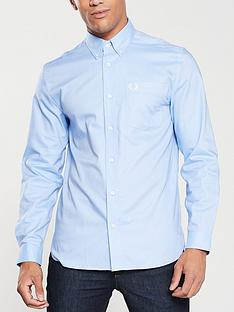 fred-perry-oxford-shirt-light-smoke