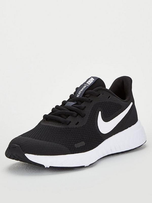 radiador perro profundidad  Nike Revolution 5 Junior Trainers - Black/White | very.co.uk