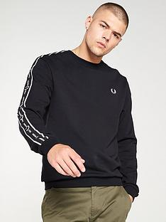 fred-perry-shoulder-tape-sweatshirt-black
