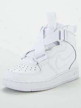 nike-air-force-1-highness-childrens-trainer-white-white