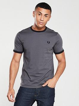 fred-perry-ringer-t-shirt-gunmetal-grey
