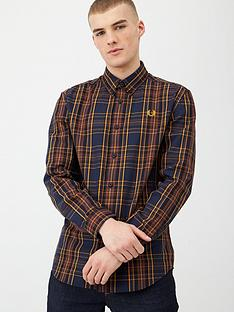 fred-perry-winter-tartan-shirt-blacknavy